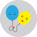 balloon, celebration, couple, heart, love, valentine icon