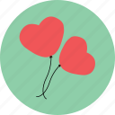 balloon, celebration, heart, love, propose, valentine icon