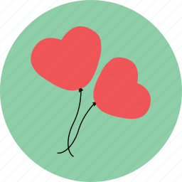 balloon, celebration, heart, love, propose, valentine icon