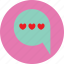 chat, coversastion, heart, love, propose, valentine icon