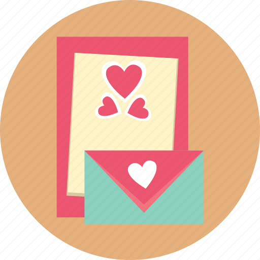 card, gift, greeting, heart, love, valentine icon