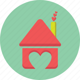 gift, heart, home, house, love, valentine icon