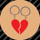 gift, keyring, love, valentine icon