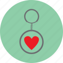 gift, heart, keyring, love, valentine icon