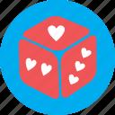 dice, game, heart, love, ludo, valentine