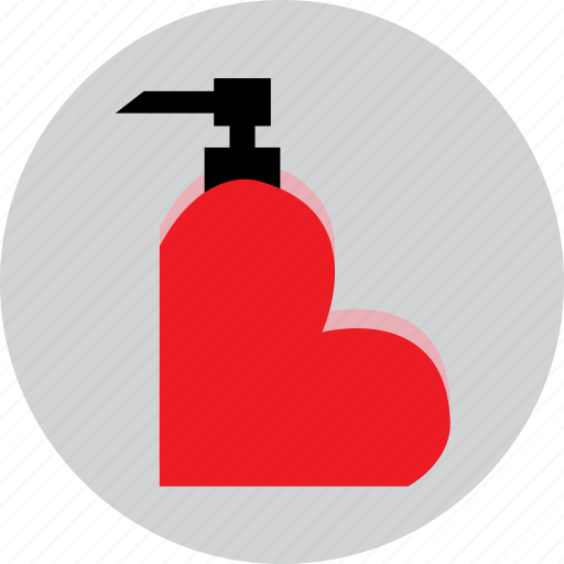 gift, heart, love, perfume, valentine icon