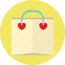 heart, love, lovely, shopping, valentine icon