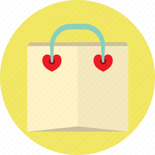 heart, love, lovely, shopping, valentine icon