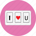 heart, love, off, on, switch, valentine icon