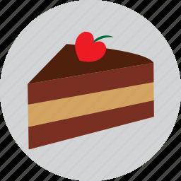 birthday, cack, cake, heart, love, valentine icon