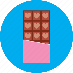 chocolate, heart, love, sweet, valentine icon