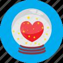ball, crystal, gift, globe, heart, love, valentine