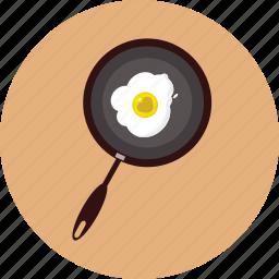 breakfast, heart, love, omelette, propose, valentine icon