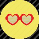 gaugle, heart, love, spects, valentine