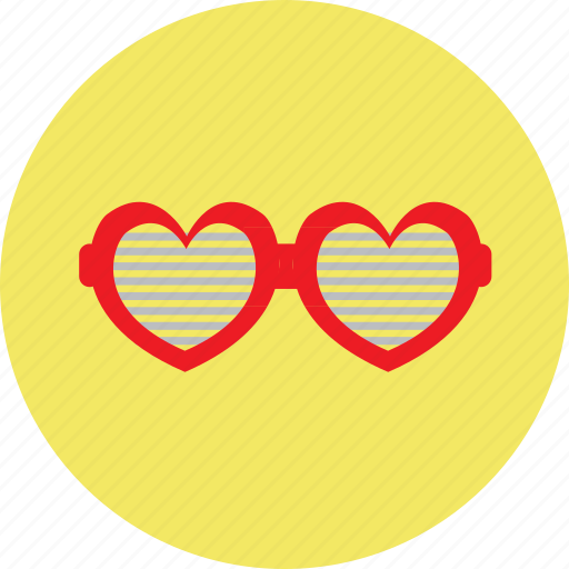 gaugle, heart, love, spects, valentine icon