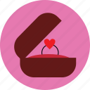 heart, love, propose, ring, shopping, valentine, wedding icon