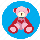 bear, heart, love, teddy, toy, valentine icon