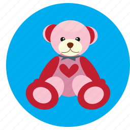 bear, heart, love, teddy, toy, valentine icon