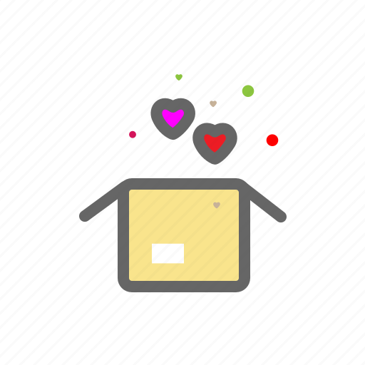 box, heart, love, lovers, package, passion, valentine icon