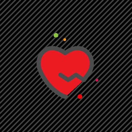 broken, heart, heartbreak, love, lovers, passion, valentine icon