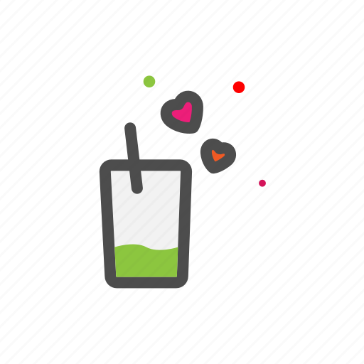 drink, glass, heart, love, lovers, passion, valentine icon