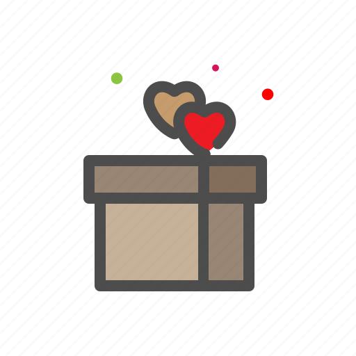 gift, heart, love, lovers, passion, valentine icon