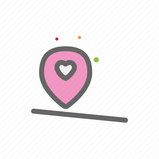 gps, heart, love, lovers, passion, position, valentine icon