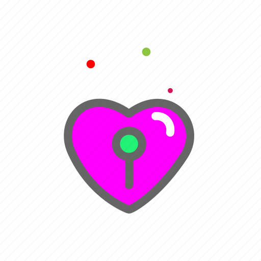 heart, lock, love, lovers, passion, valentine icon