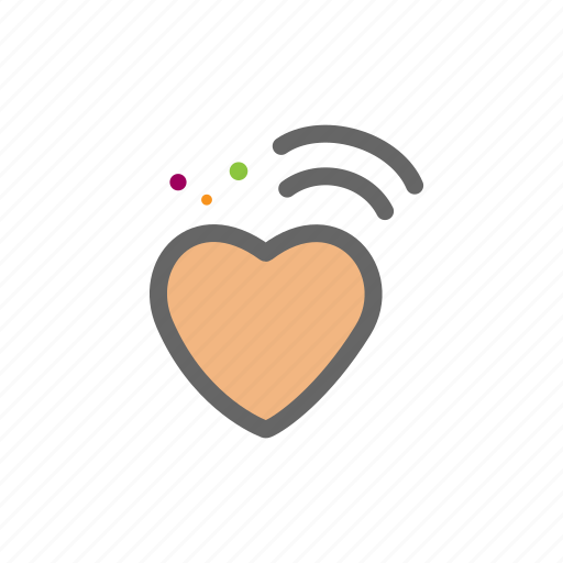 heart, love, lovers, passion, valentine, wifi icon