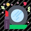 glass, make, mirror, up icon