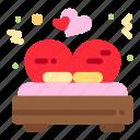 bed, love, valentine, wedding