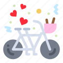bicycle, couple, cycling, heart, love