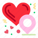 heart, location, love