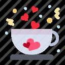 coffee, cup, love, tea