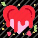 bleeding, heart, love, romance