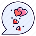 chat, speech, bubble, heart, conversation