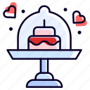 cake, ceremony, wedding, dessert, sweet icon