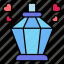 perfume, bottle, heart, romance, valentines, day, valentine icon