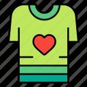 shirt, love, heart, romance, valentines, day, valentine icon