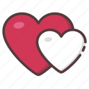 hearts, love, romantic, valentine icon