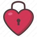 heart, lock, love, valentine icon