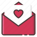 email, letter, love letter, message icon