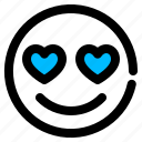 emotion, happy, love, smiley icon