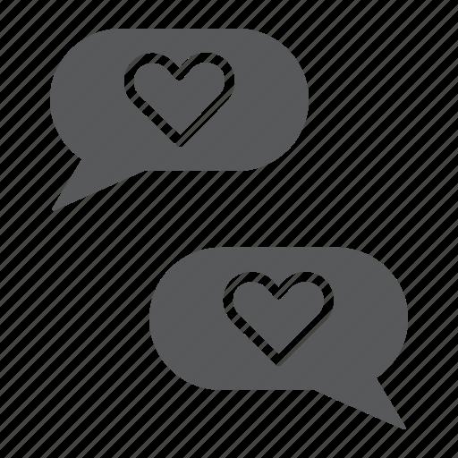 Chat, heart, love, message, romance, valentine icon - Download on Iconfinder