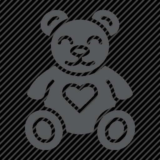 animal, bear, child, heart, plush, teddy, toy icon