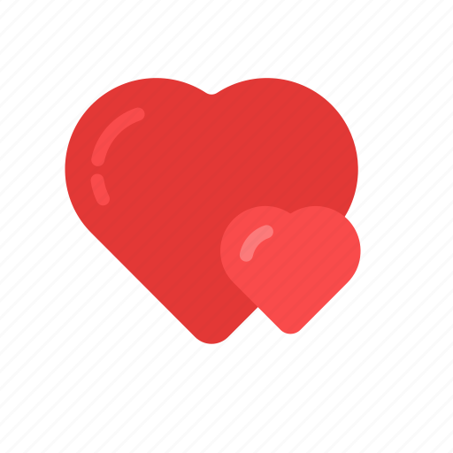 Couple Double Heart Love Romantic Valentine Valentine S Day Icon