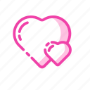 double love, romantic, together, valentine, valentine's icon icon