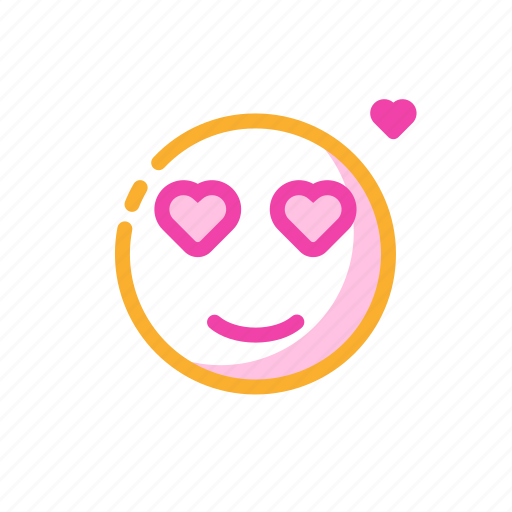 emoticon, fall in love, relationship, romantic, valentine's time icon