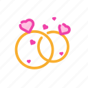 couple, married, marry, ring, romantic, valentine icon
