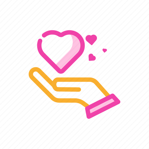 couple, gift love, hand, romantic, share love, valentine icon